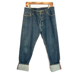 Lawless Selvedge Button Fly Blue Raw Denim Jeans